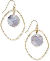 INC International Concepts Gold-Tone Semi-Precious Orbit Drop Earrings, Only at Macy's