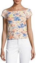 Rebecca Taylor Gigi Off-The-Shoulder Floral-Print Top, Multicolor