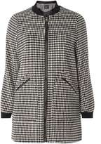Dorothy Perkins Longline Dogstooth Bomber Jacket