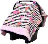 Itzy Ritzy IR-CAN8151 Cozy Happens Infant Car Seat Canopy and Tummy Time Mat, Floral Stripe