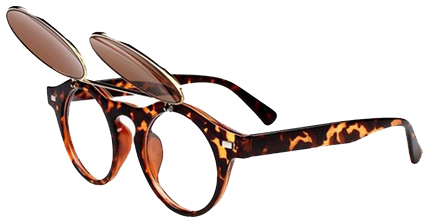 Vintage Sunglasses Two-Double In Leopard Print
