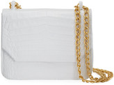 Nancy Gonzalez Small Square Crocodile Double-Chain Shoulder Bag