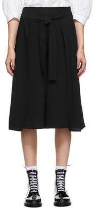 See by Chloe Black Crepe Long Shorts