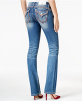 Miss Me Embroidered Medium Blue Wash Bootcut Jeans