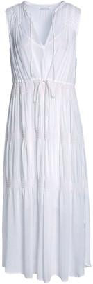 James Perse Gathered Chiffon Midi Dress