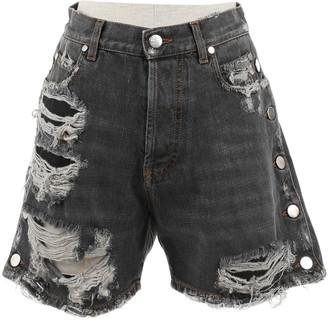 Faith Connexion Grey Cotton Shorts