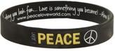 Peace Love World I am Gold Peace Black Classic Silicone Bracelet