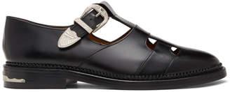 Toga Virilis Black T-Strap Loafers