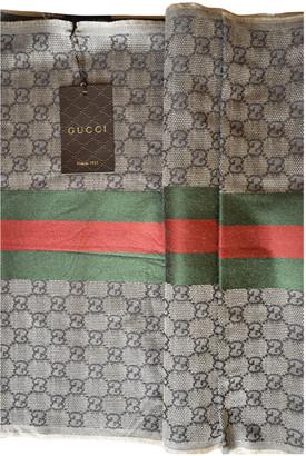 Gucci Brown Wool Scarves & pocket squares