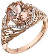 Ice 2 5/8 CT TW Morganite 14K Rose Gold Side Accented Fashion Ring with Diamond Acccents
