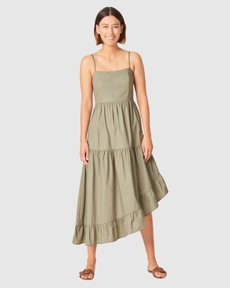 French Connection Asymmetrical Cotton Dress