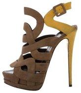 Giuseppe Zanotti Bi-Color Platform Sandals