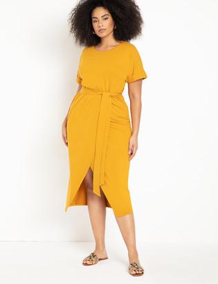 ELOQUII Wrap Skirt Dress