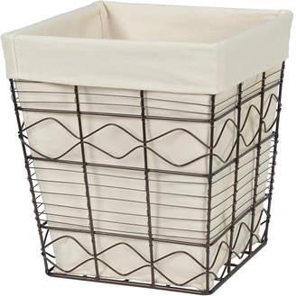 Creative Bath Soho Wire Waste Basket With Liner