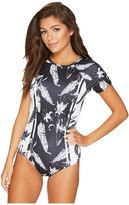 Roxy Strappy Love Printed Short Sleeve One-Piece Swimsuit Women's Swimsuits One Piece