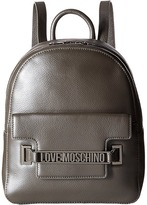 Love Moschino Letter Plate Mini Backpack Backpack Bags