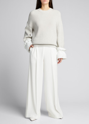 ADEAM Pleated Wide-Leg Pants