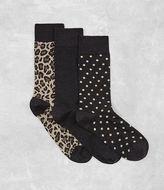 Allsaints Polka Leopard Sock 3 Pack