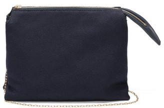 The Row Nu Twin Mini Matte-satin Shoulder Bag - Womens - Navy
