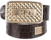 Just Cavalli Embossed Patent Belt