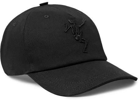Alexander McQueen Embroidered Stretch-Cotton Twill Baseball Cap - Black