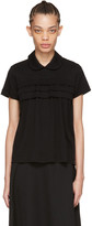 Comme des Garcons Black Layered Ruffle Polo
