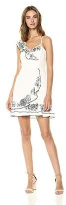 Parker Women's Jay Sleeveless Fitted Ruffle Front Mini Dress