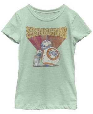 Star Wars Big Girls Retro Psychedelic Bb-8 and D-o Short Sleeve T-Shirt