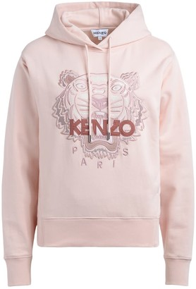 Kenzo Tiger Light Pink Hooded Sweatshirt