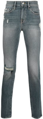 Frame Faded Slim-Fit Jeans