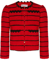 Sonia Rykiel Striped Cotton-blend Bouclé-tweed Jacket - Red