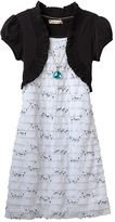 Speechless Ruffle Mock Layer Dress with Necklace - Girls 7-16