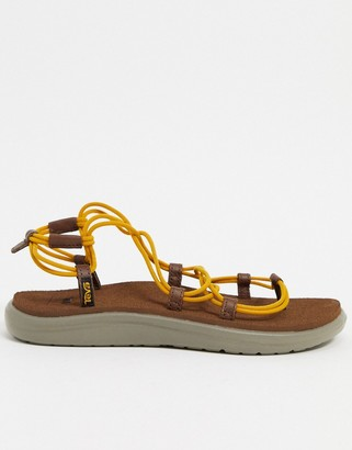 Teva Voya Infinity lace up sandals in stripe