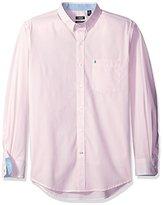 Izod Men's Advantage Performance Long Sleeve Stripe Shirt