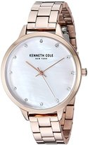 Kenneth Cole New York Women's 'Classic' Quartz Stainless Steel Dress Watch, Color:Rose Gold-Toned (Model: KC15056007)