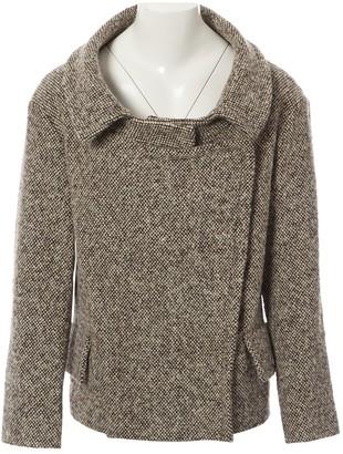 Miu Miu Beige Wool Coat for Women