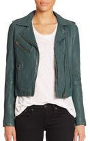 Doma Washed Leather Moto Jacket