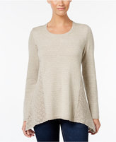 Style&Co. Style & Co. Petite Pointelle-Detail Sweater, Only at Macy's
