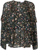 IRO Bow floral-print top