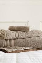Amrapur 3-Piece Turkish Cotton Towel Set - Taupe