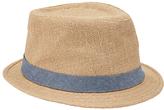 John Lewis Hessian Trilby Hat, Beige