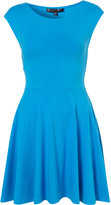 Petite Cap Sleeve Flippy Dress