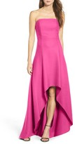 Laundry by Shelli Segal Women's Strapless High/low Gown