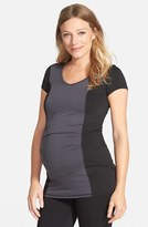 Maternal America Women's Colorblock Maternity Top