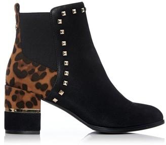 Moda In Pelle Kyanti Black - Leopard Protauras