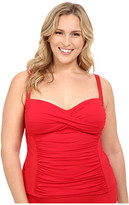 LaBlanca La Blanca Plus Size Island Goddess Over the Shoulder Tankini