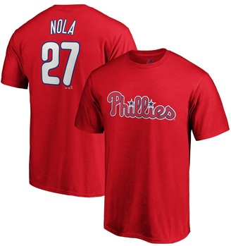 Majestic Aaron Nola Philadelphia Phillies Official Player Name & Number T-Shirt - Red