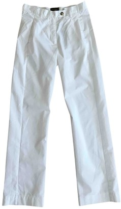Vivienne Westwood White Cotton Trousers for Women