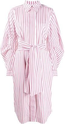 Ganni Striped Midi Dress