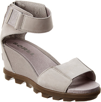 Sorel Joanie Ii Ankle Strap Leather Wedge